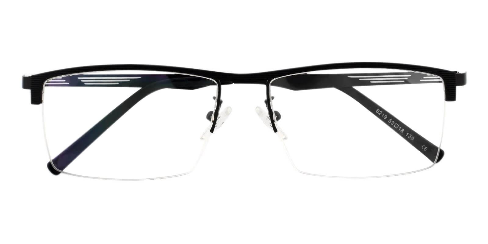 Henry Black Metal Eyeglasses , NosePads Frames from ABBE Glasses