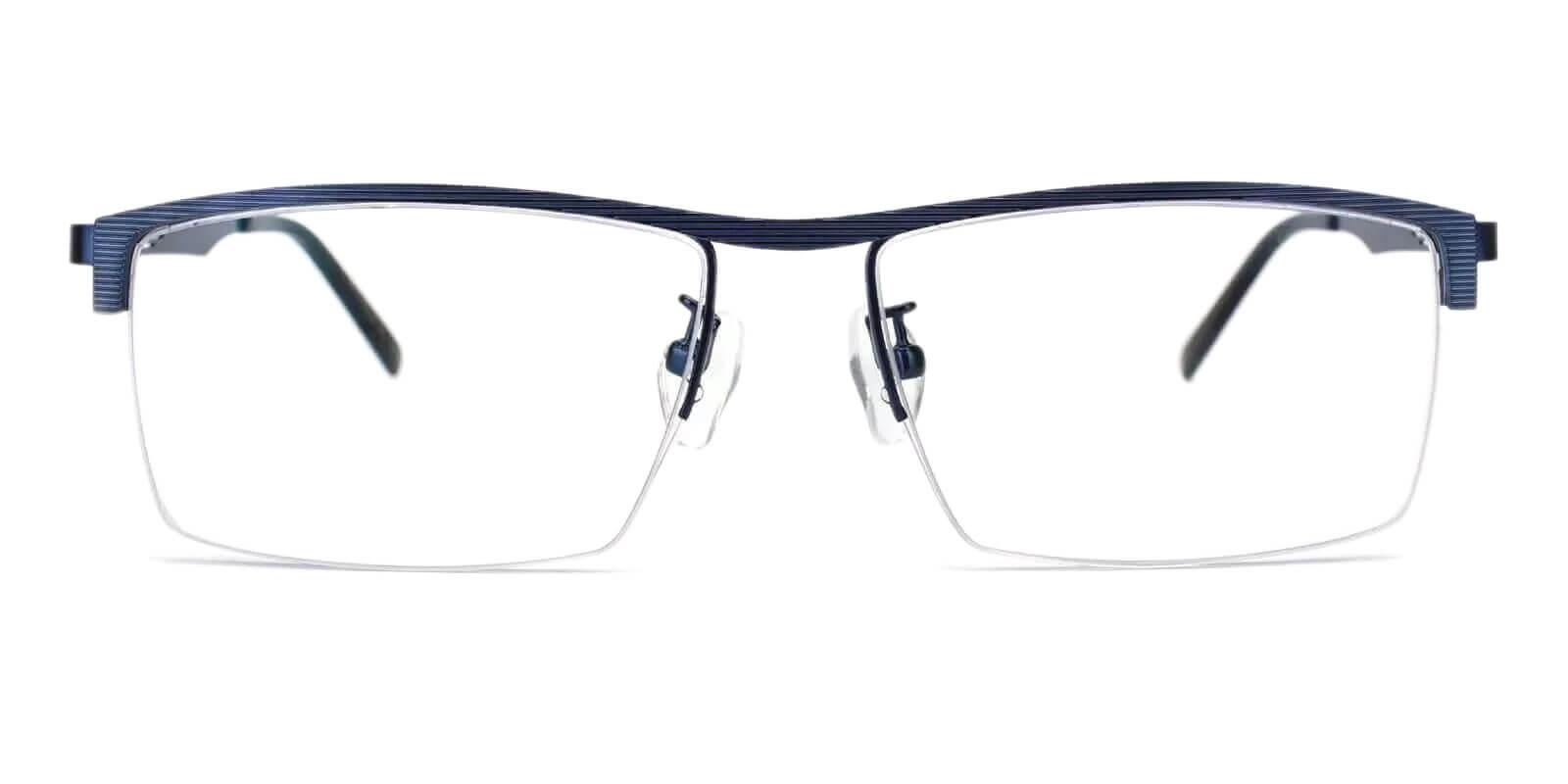 Henry Blue Metal Eyeglasses , NosePads Frames from ABBE Glasses