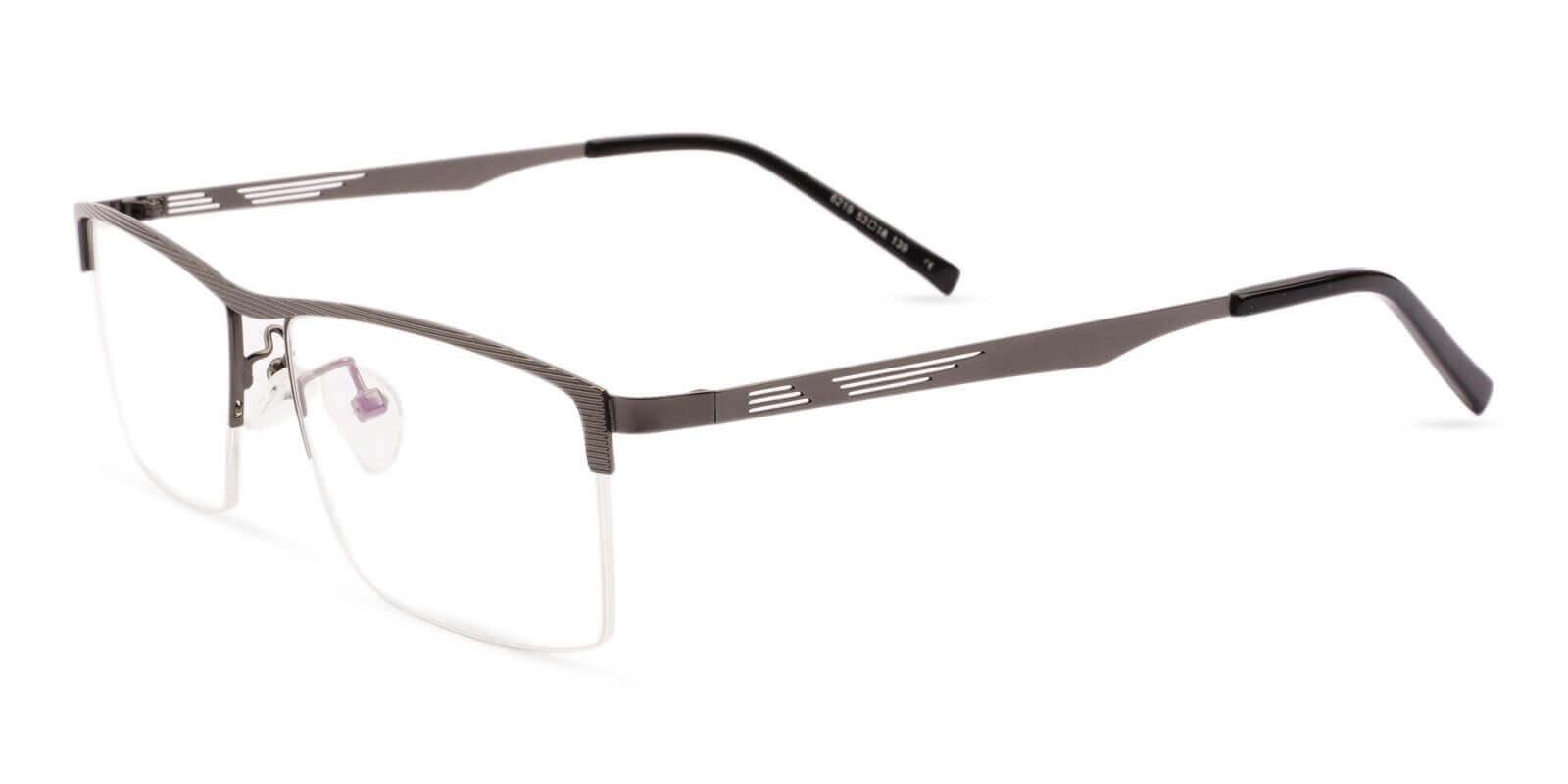 Henry Gun Metal Eyeglasses , NosePads Frames from ABBE Glasses