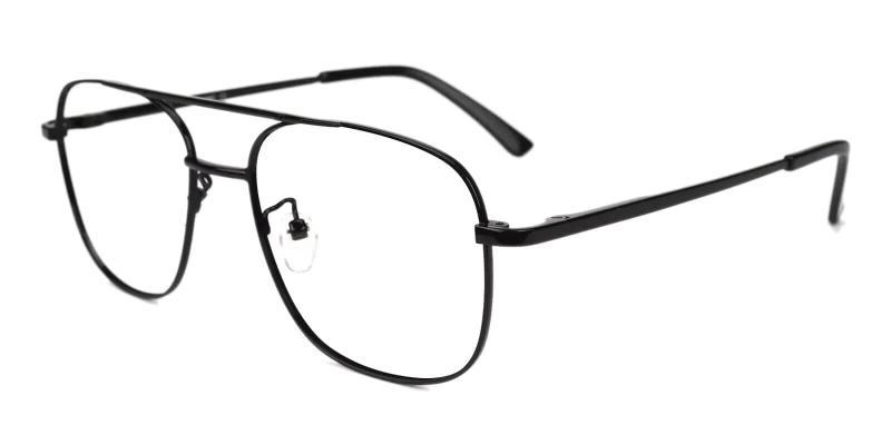 Black Gatewood - Metal NosePads , SpringHinges , Eyeglasses