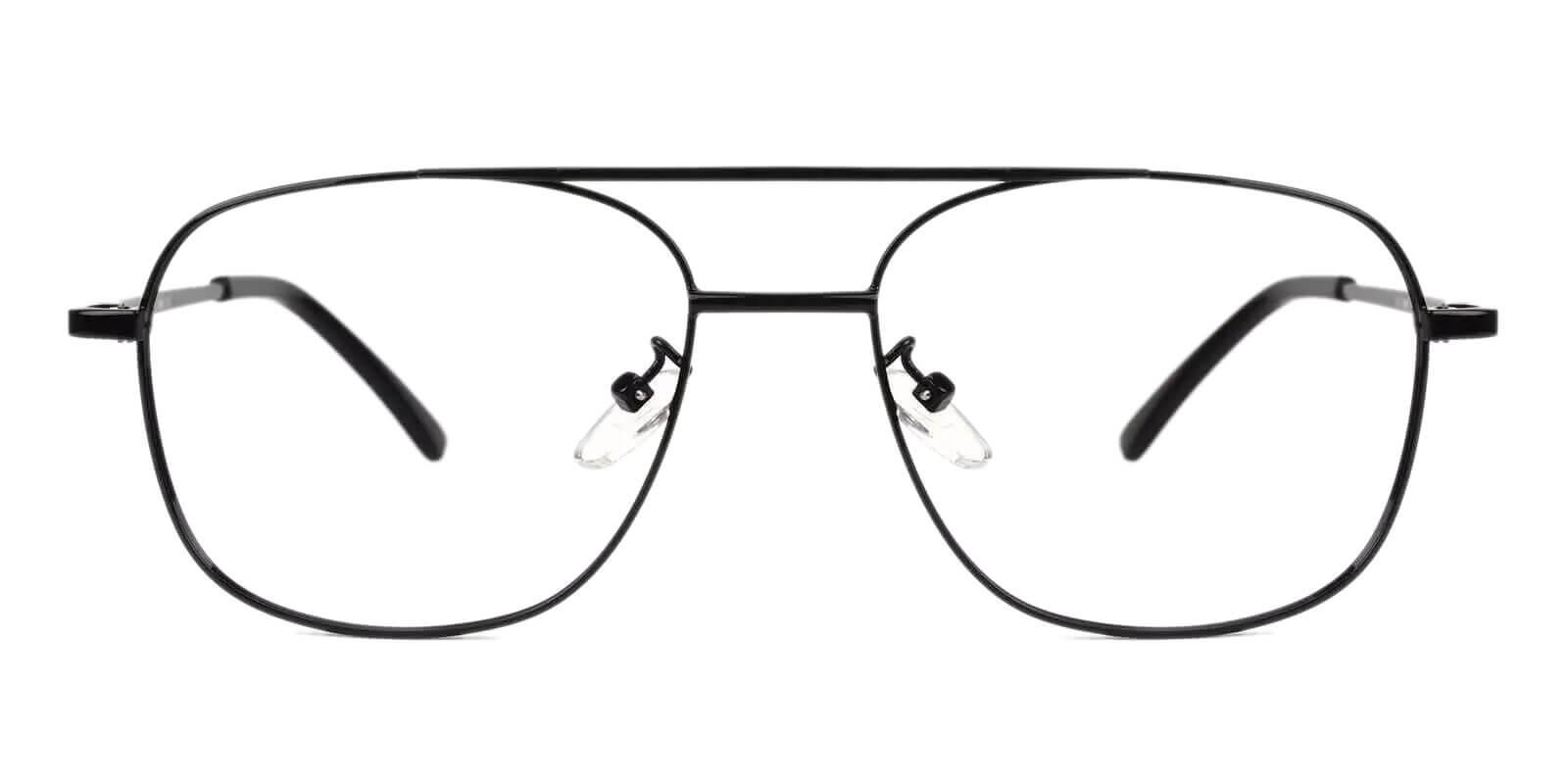Gatewood Black Metal Eyeglasses , NosePads , SpringHinges Frames from ABBE Glasses