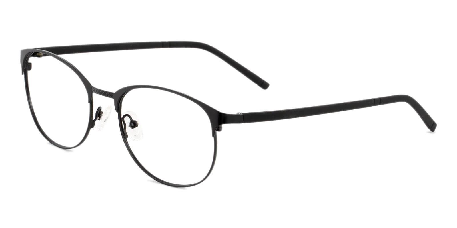 Emily Black Metal Eyeglasses , Lightweight , NosePads Frames from ABBE Glasses