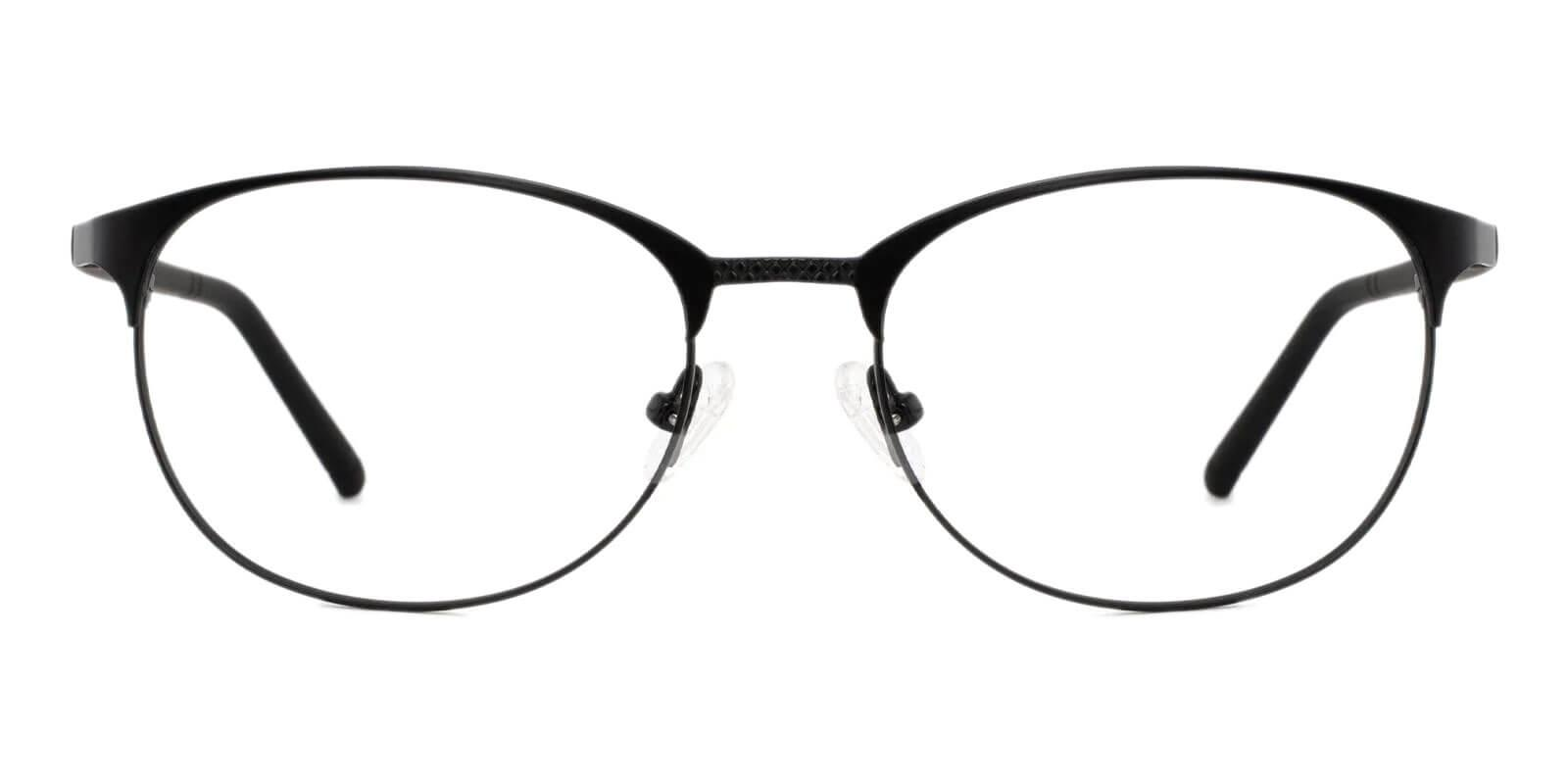 Emily Black Metal Eyeglasses , Lightweight , NosePads Frames from ABBE Glasses