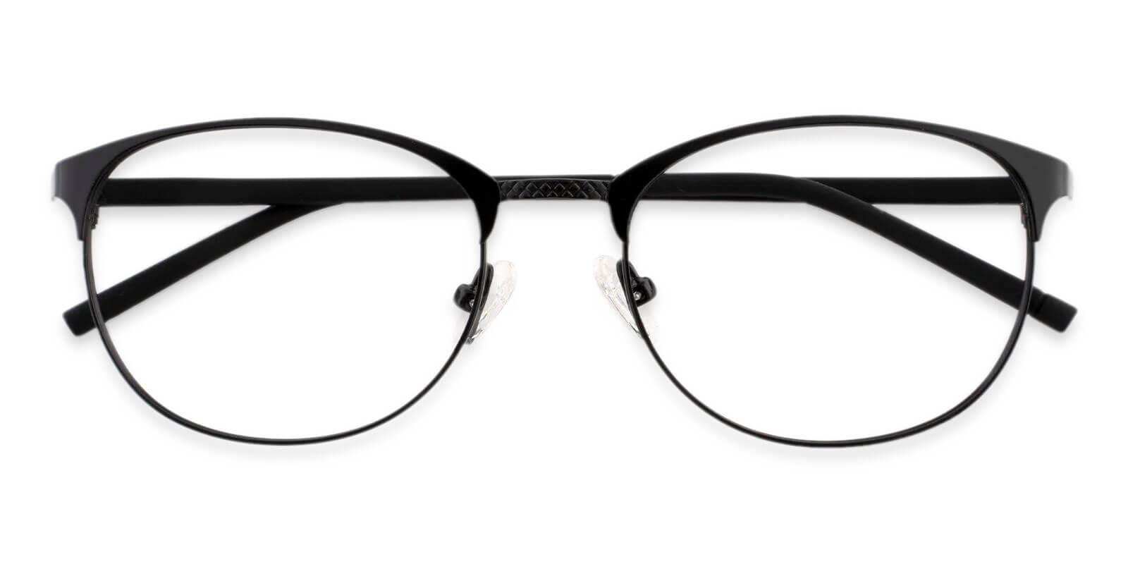 Emily Black Metal NosePads , Eyeglasses , Lightweight Frames from ABBE Glasses