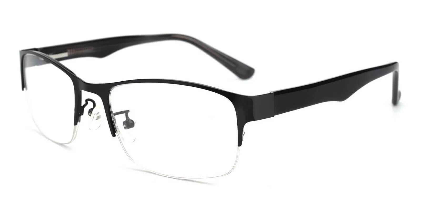 Julian Black Metal SpringHinges , Eyeglasses , NosePads Frames from ABBE Glasses