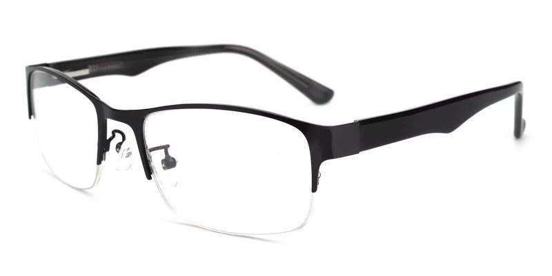 Black Julian - Metal SpringHinges , Eyeglasses , NosePads