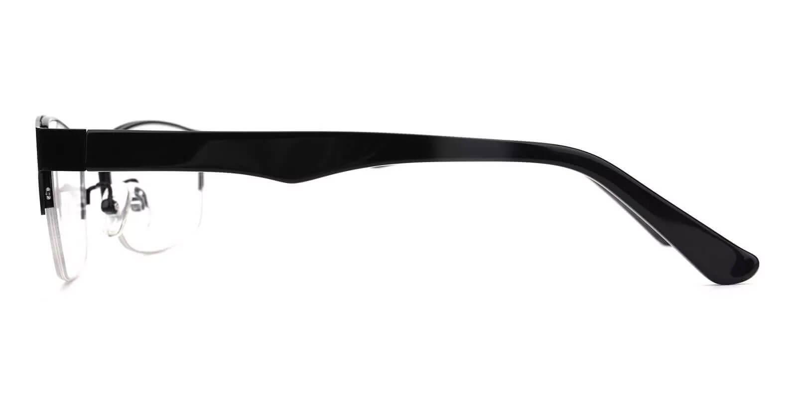 Julian Black Metal SpringHinges , Eyeglasses , NosePads Frames from ABBE Glasses