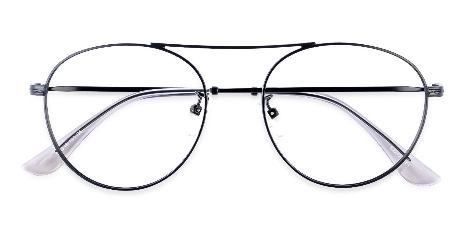 Ellie Black Metal Eyeglasses , NosePads Frames from ABBE Glasses