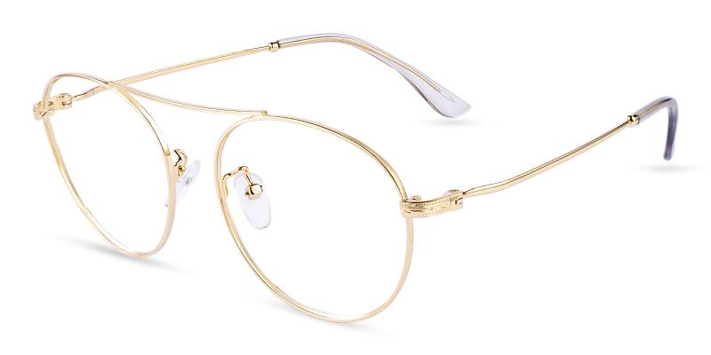 Gold Ellie - Metal Eyeglasses , NosePads