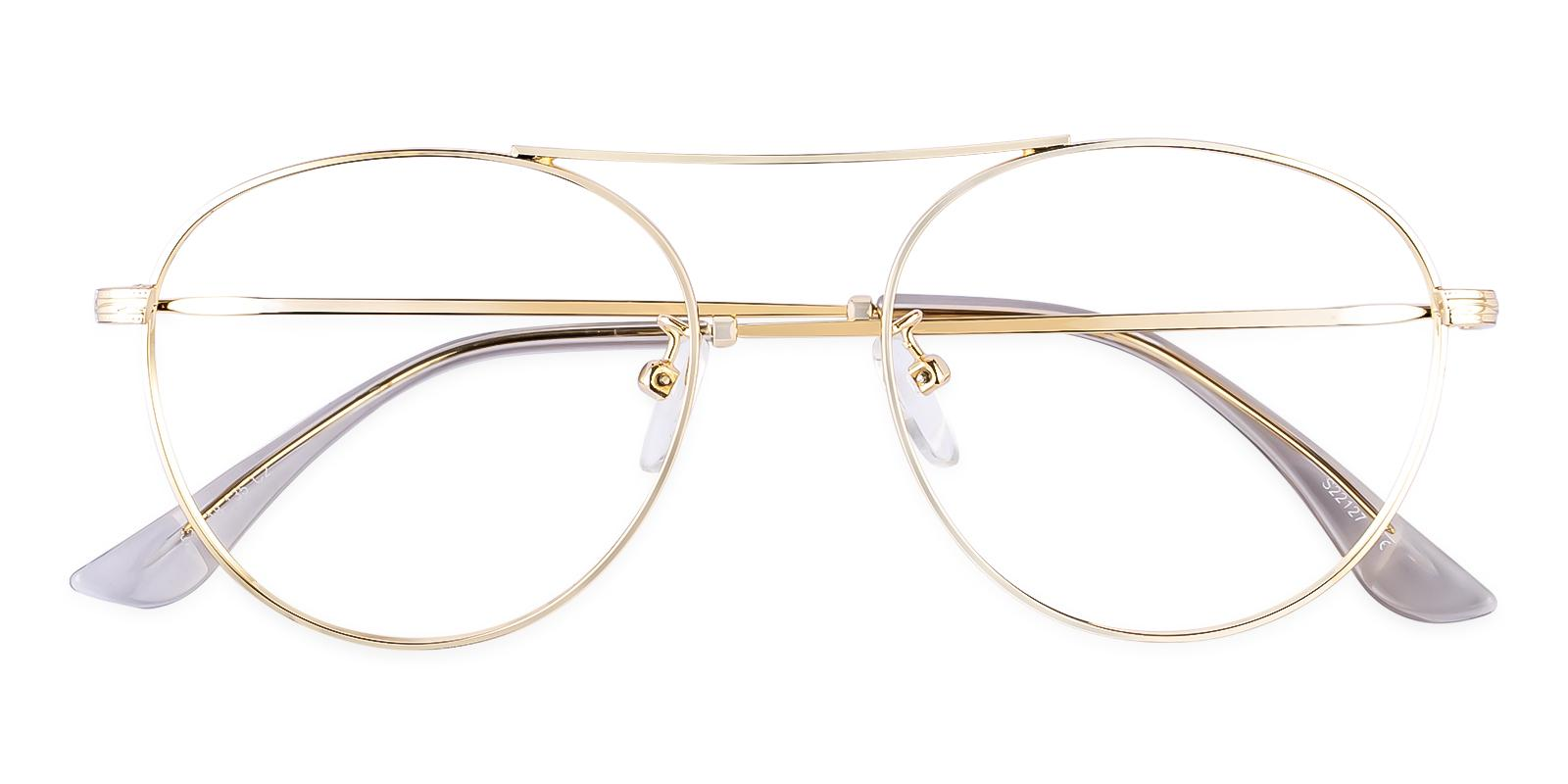 Ellie Gold Metal Eyeglasses , NosePads Frames from ABBE Glasses