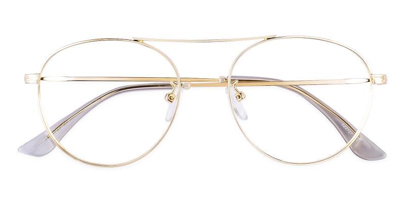 Gold Ellie - Metal Eyeglasses , NosePads