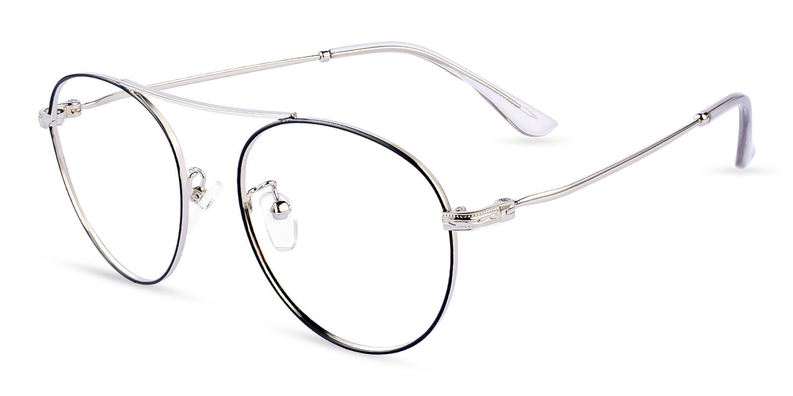 Ellie Silver Metal Eyeglasses , NosePads Frames from ABBE Glasses