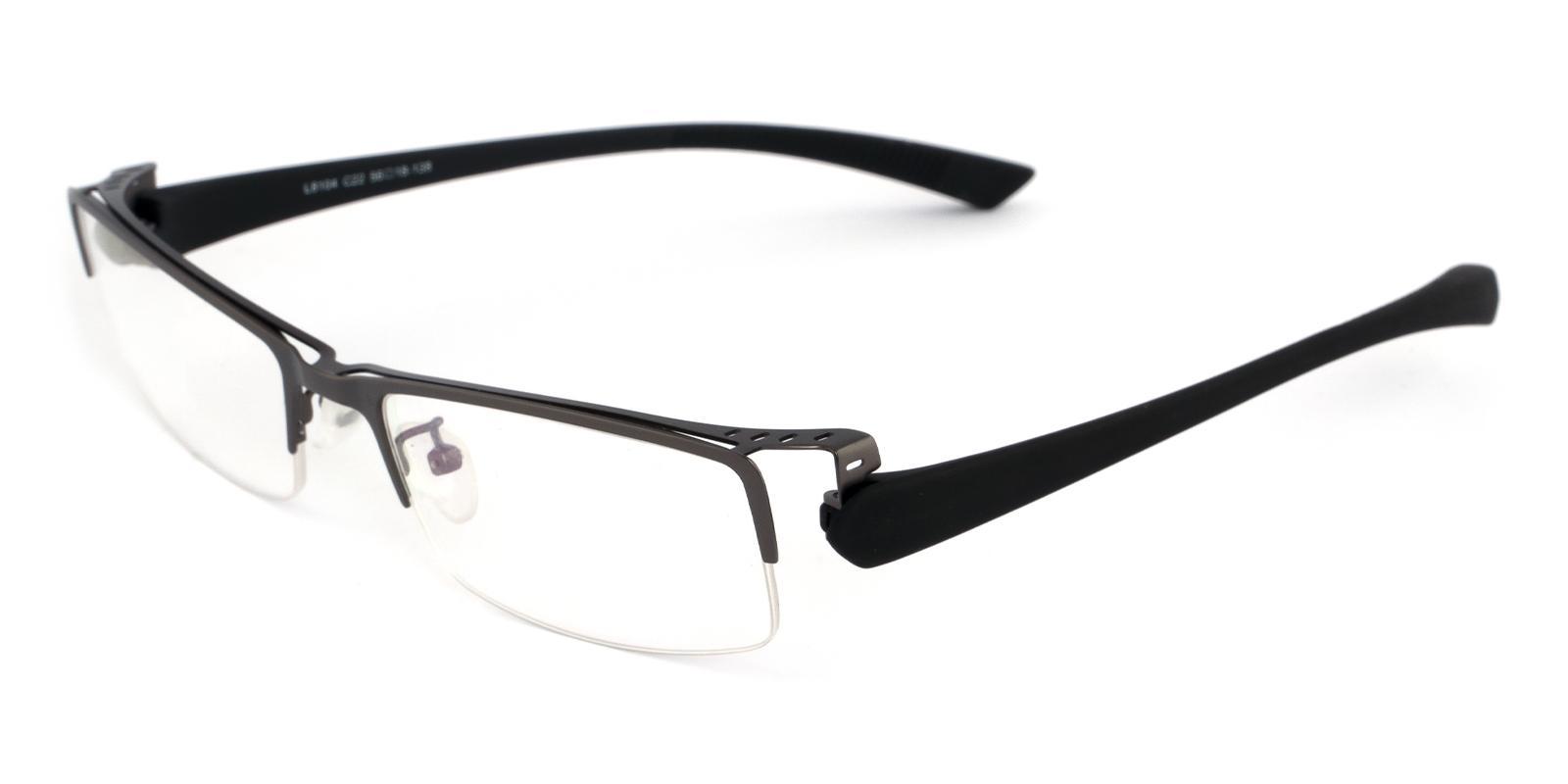 Jaxon Gun Metal Eyeglasses , NosePads Frames from ABBE Glasses