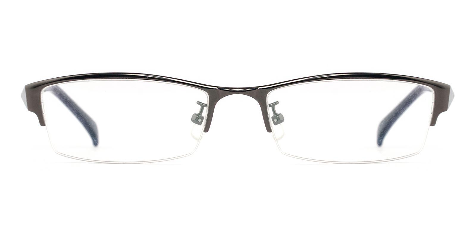 Riley Gun Metal Eyeglasses , NosePads Frames from ABBE Glasses