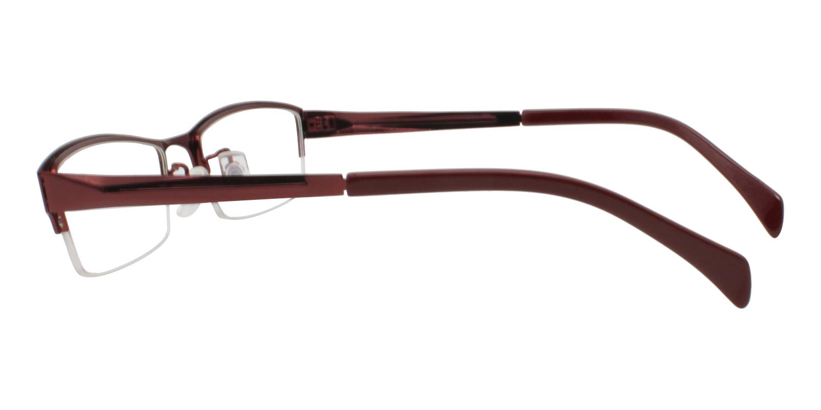 Riley Red Metal Eyeglasses , NosePads Frames from ABBE Glasses