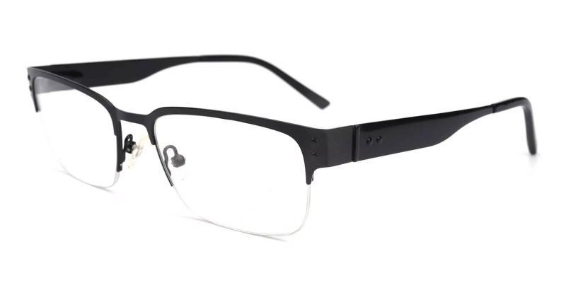 Black Levi - Metal Eyeglasses , NosePads