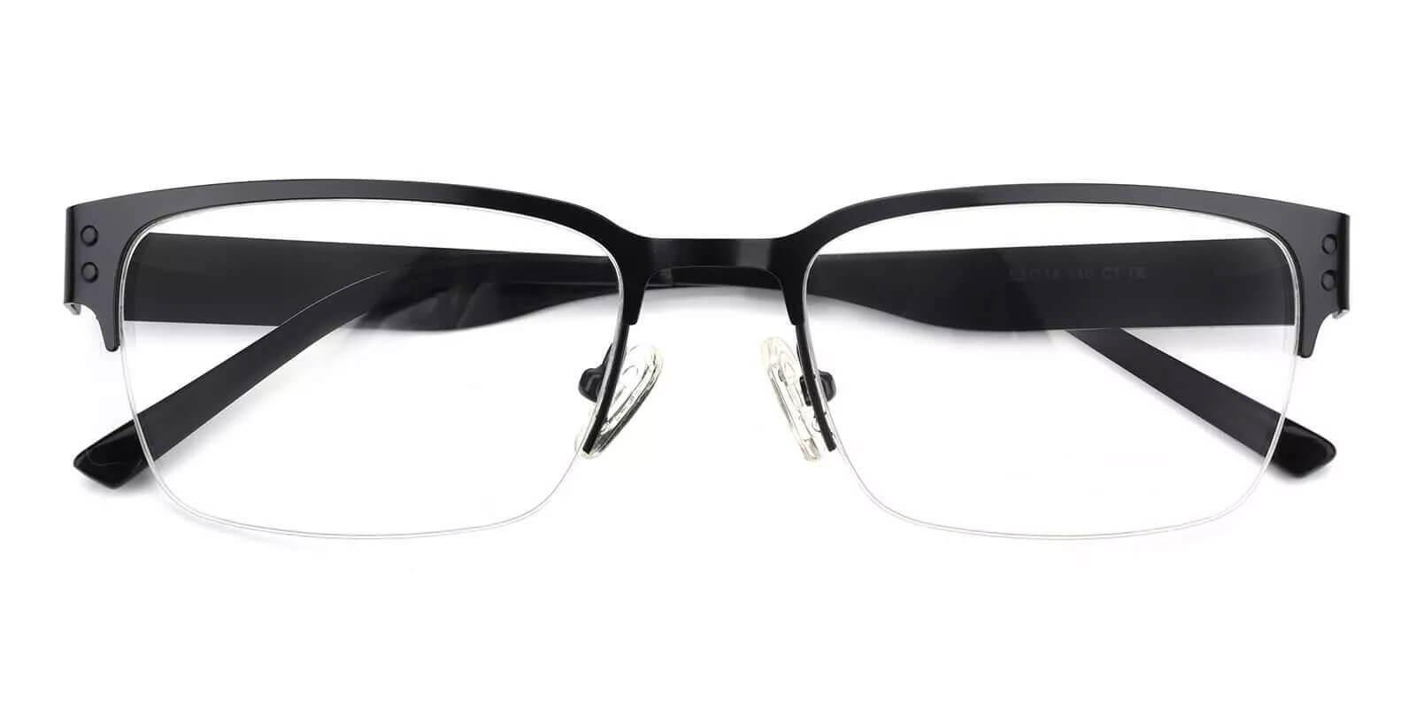 Levi Black Metal Eyeglasses , NosePads Frames from ABBE Glasses