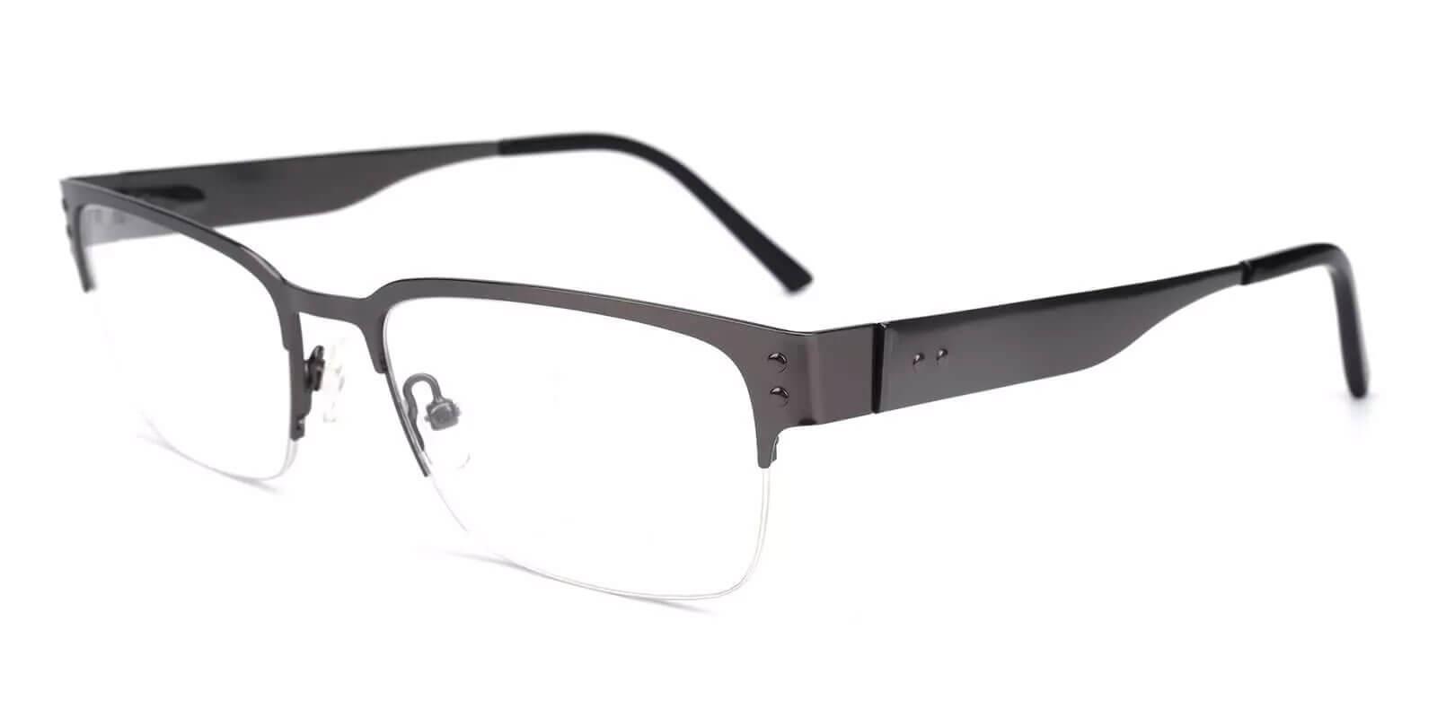 Levi Gun Metal Eyeglasses , NosePads Frames from ABBE Glasses