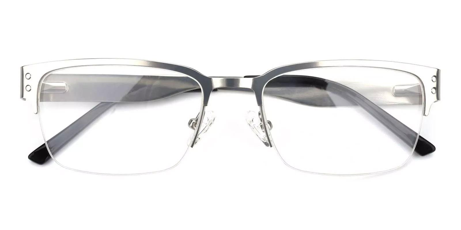Levi Silver Metal Eyeglasses , NosePads Frames from ABBE Glasses