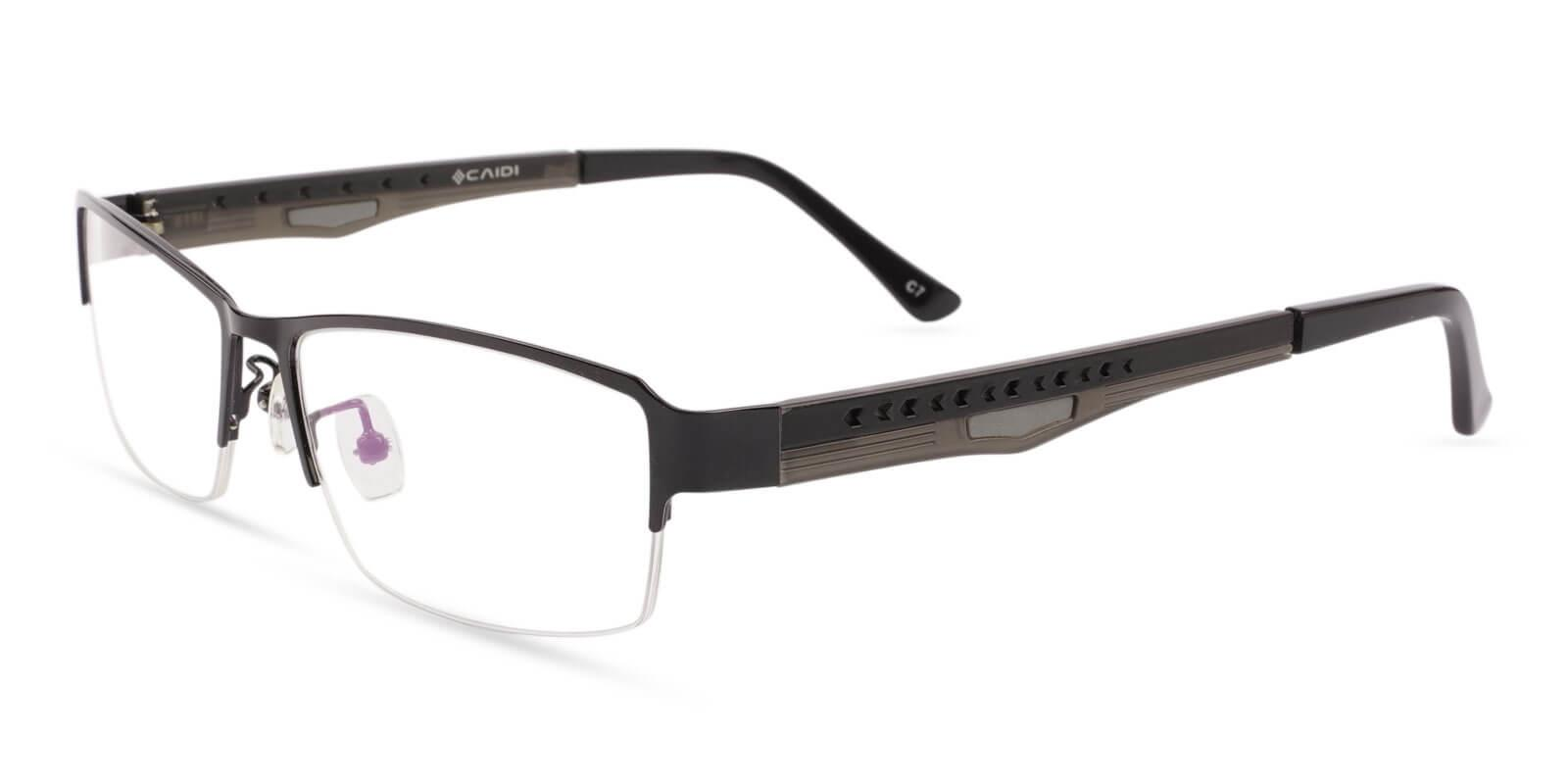 David Black Metal Eyeglasses , NosePads Frames from ABBE Glasses