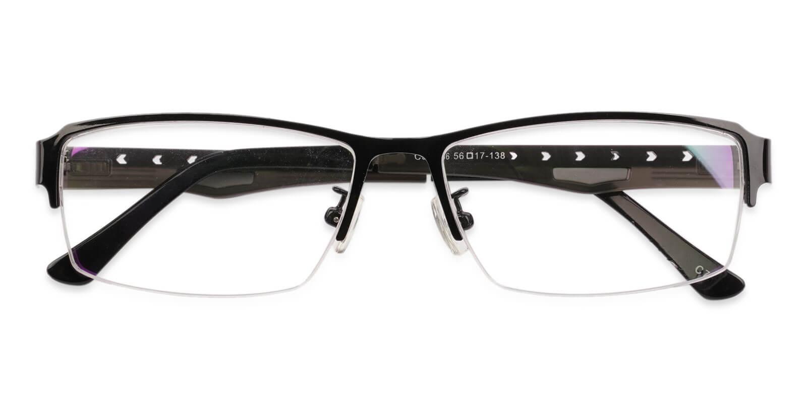 David Black Metal Eyeglasses , NosePads Frames from ABBE Glasses