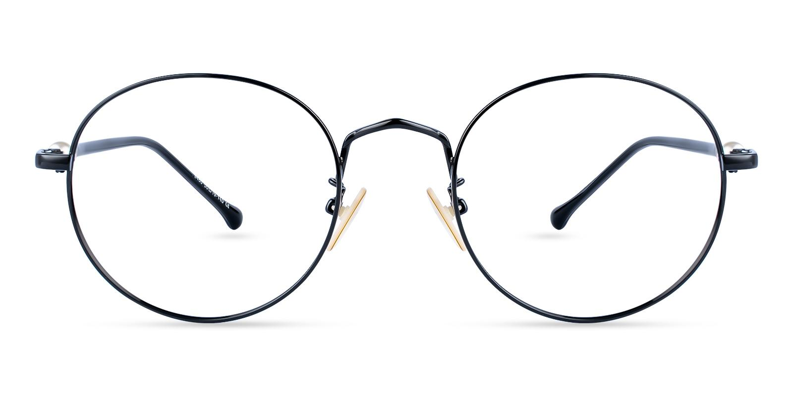 Durns Black Metal Eyeglasses , NosePads Frames from ABBE Glasses