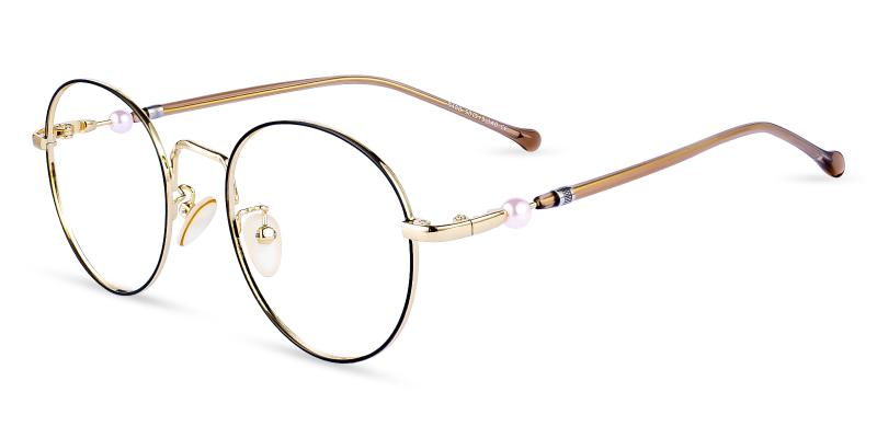 Gold Durns - Metal Eyeglasses , NosePads
