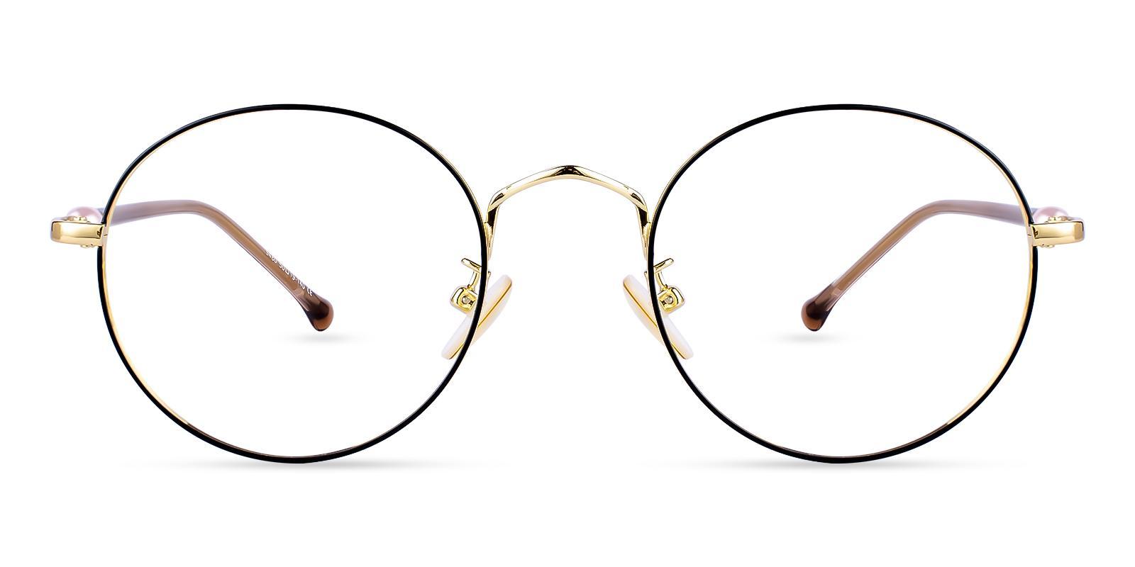 Durns Gold Metal Eyeglasses , NosePads Frames from ABBE Glasses