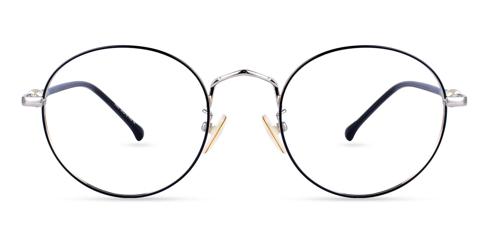 Durns Silver Metal Eyeglasses , NosePads Frames from ABBE Glasses