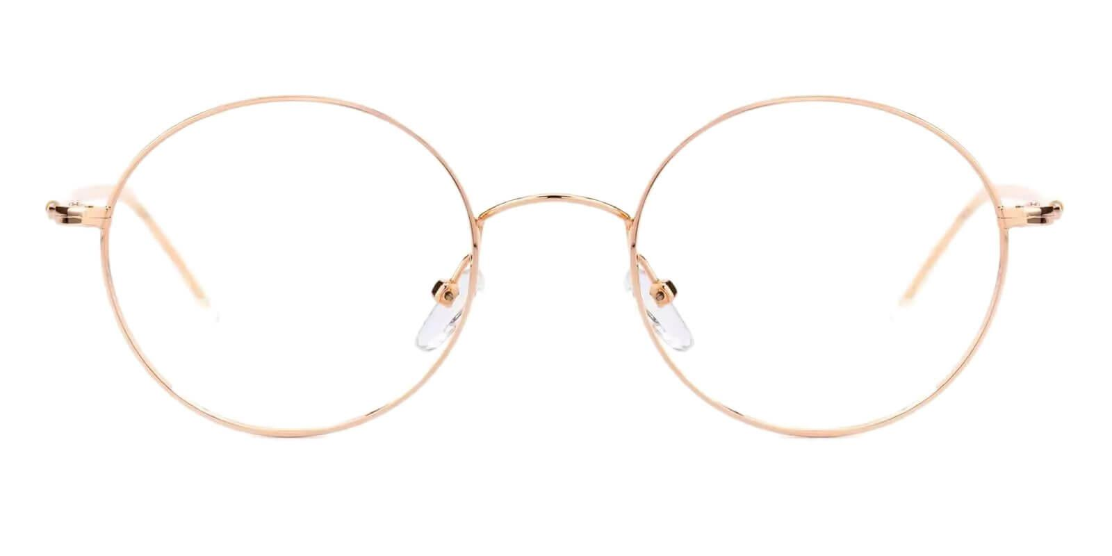 Zoey Gold Metal Eyeglasses , Lightweight , NosePads Frames from ABBE Glasses