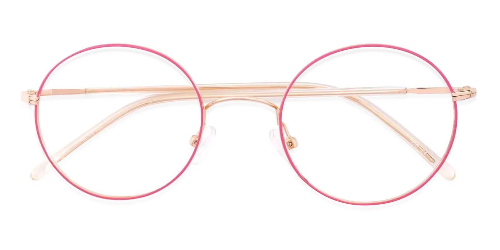 Zoey Pink Metal NosePads , Eyeglasses , Lightweight Frames from ABBE Glasses