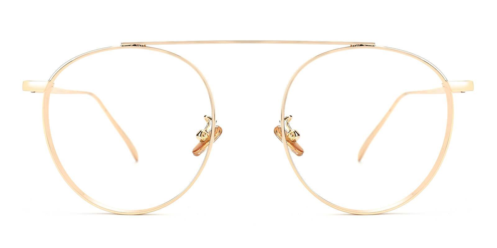 Camila Gold Metal Eyeglasses , NosePads Frames from ABBE Glasses