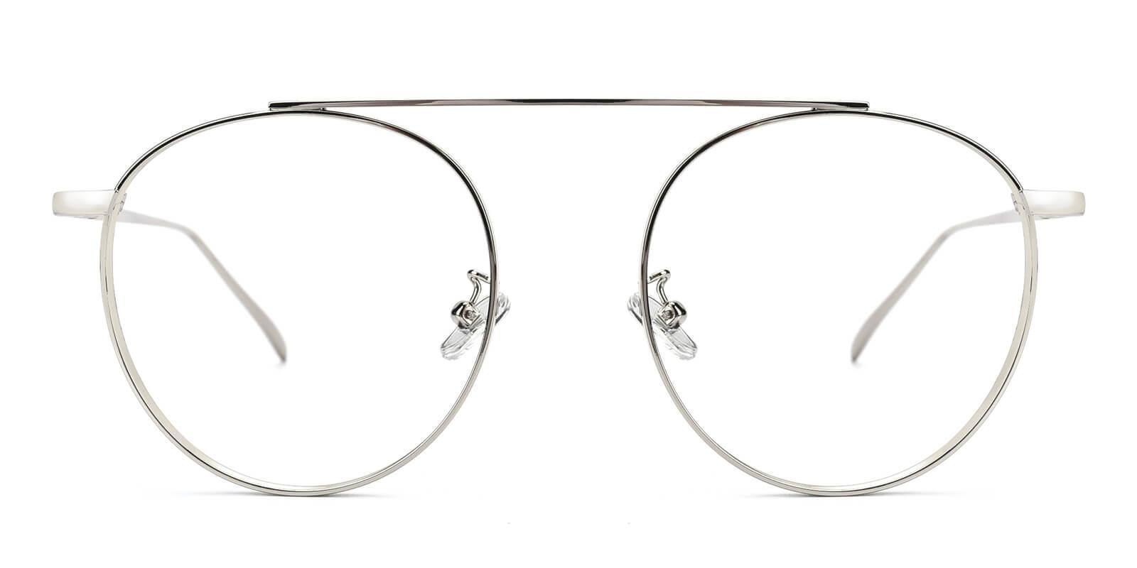 Camila Silver Metal Eyeglasses , NosePads Frames from ABBE Glasses