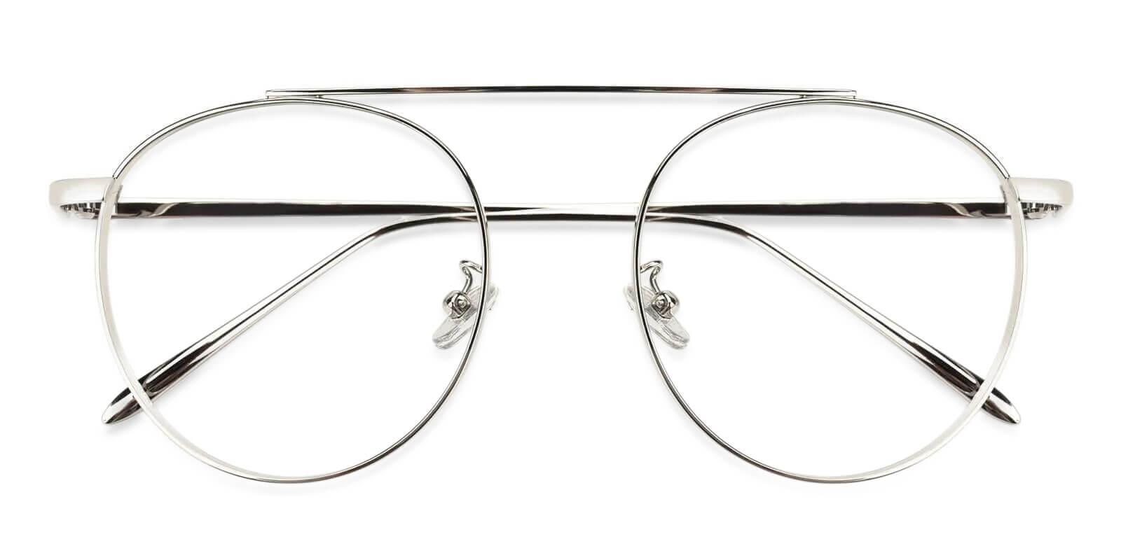 Camila Silver Metal Eyeglasses , NosePads Frames from ABBE Glasses