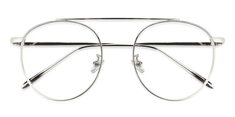 Silver Camila - Metal Eyeglasses , NosePads