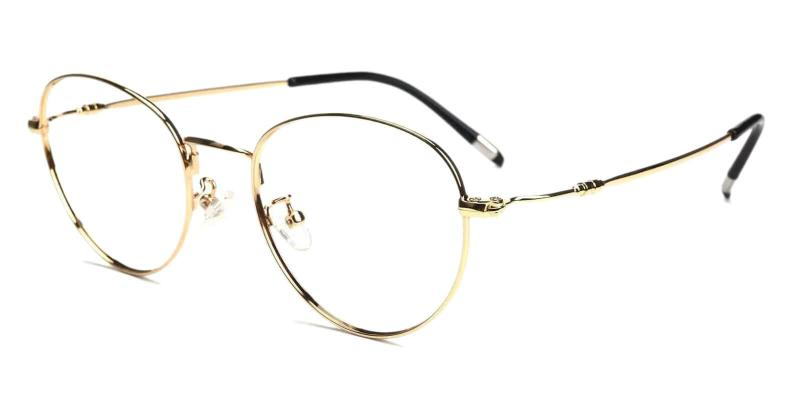 Gold Madison - Metal NosePads , Eyeglasses , Lightweight