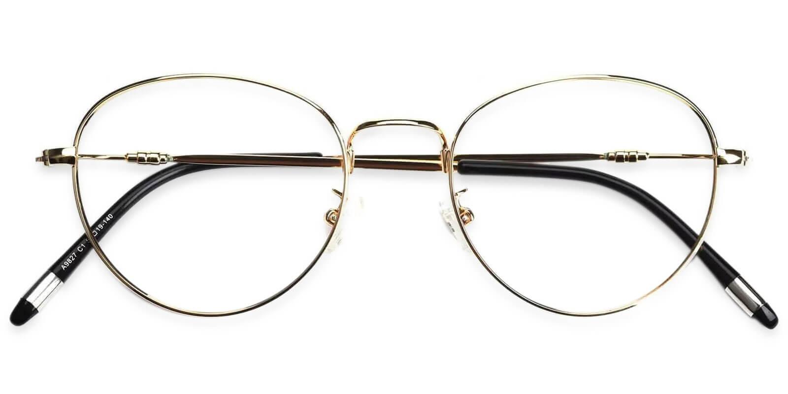 Madison Gold Metal Eyeglasses , Lightweight , NosePads Frames from ABBE Glasses