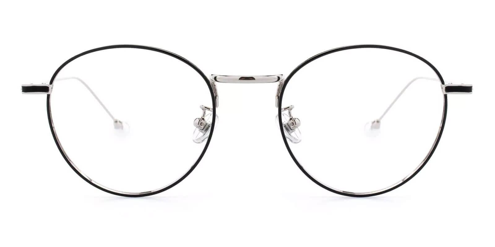 Pearl Silver Metal Eyeglasses , NosePads Frames from ABBE Glasses