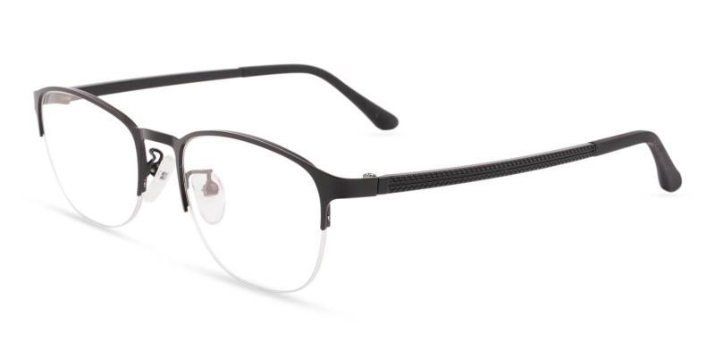 Black Victoria - Metal Eyeglasses , NosePads