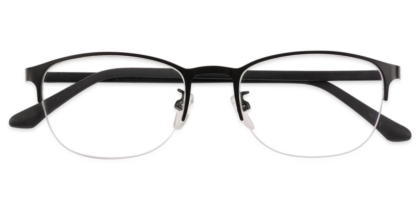 Victoria Black Metal Eyeglasses , NosePads Frames from ABBE Glasses