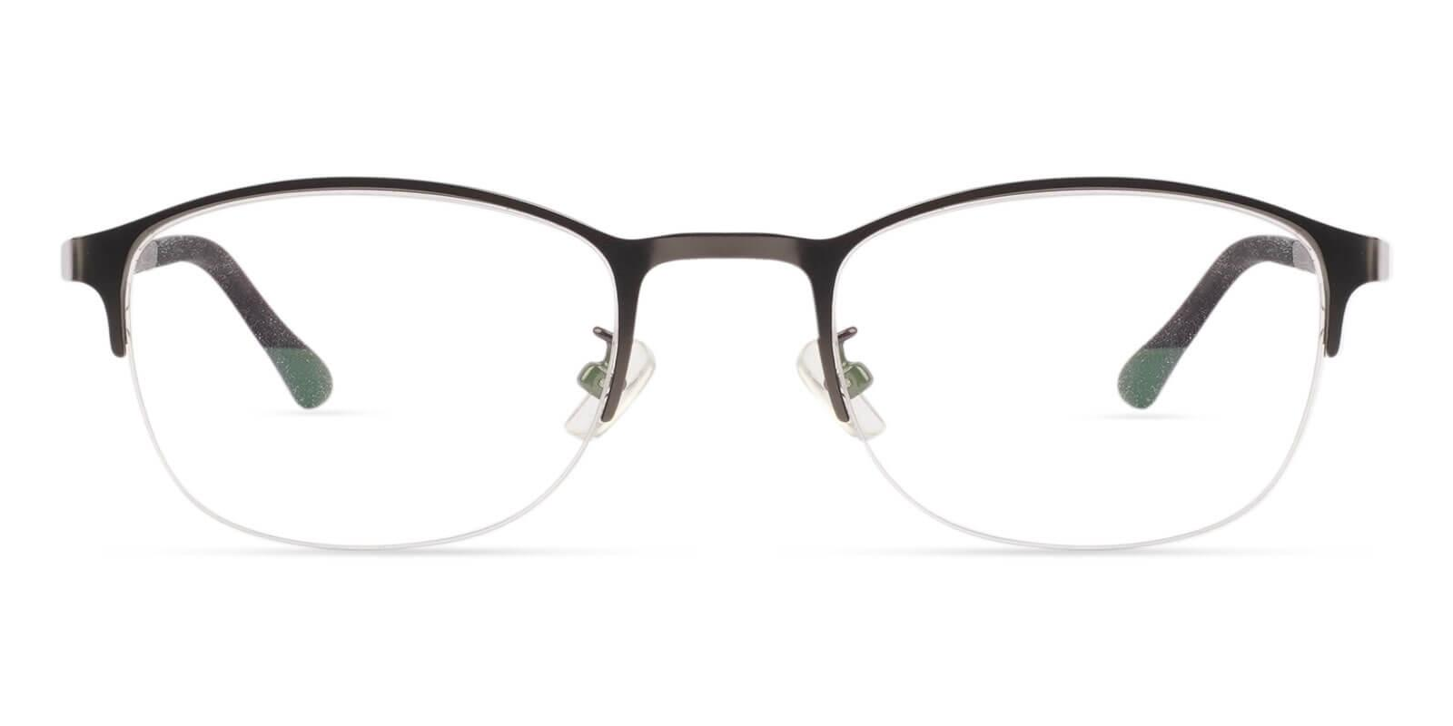 Victoria Brown Metal Eyeglasses , NosePads Frames from ABBE Glasses