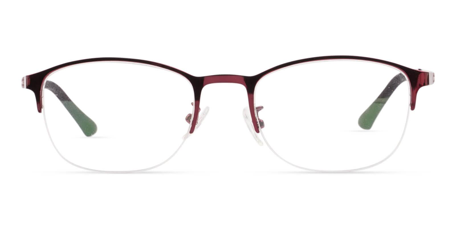 Victoria Red Metal Eyeglasses , NosePads Frames from ABBE Glasses