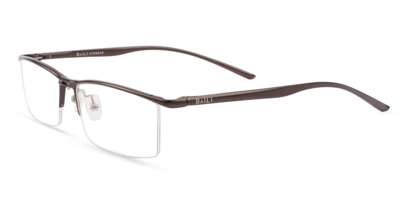 Mateo Brown Metal SpringHinges , Eyeglasses , NosePads Frames from ABBE Glasses