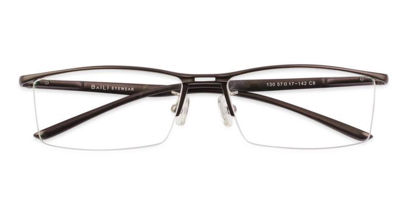 Brown Mateo - Metal SpringHinges , Eyeglasses , NosePads