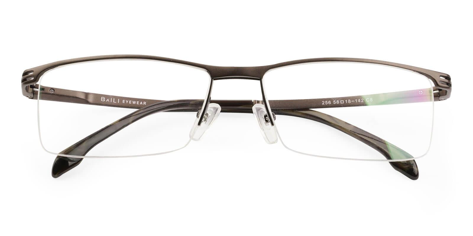 Matthew Brown Metal Eyeglasses , NosePads Frames from ABBE Glasses