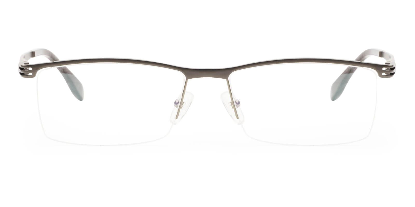Matthew Gun Metal Eyeglasses , NosePads Frames from ABBE Glasses