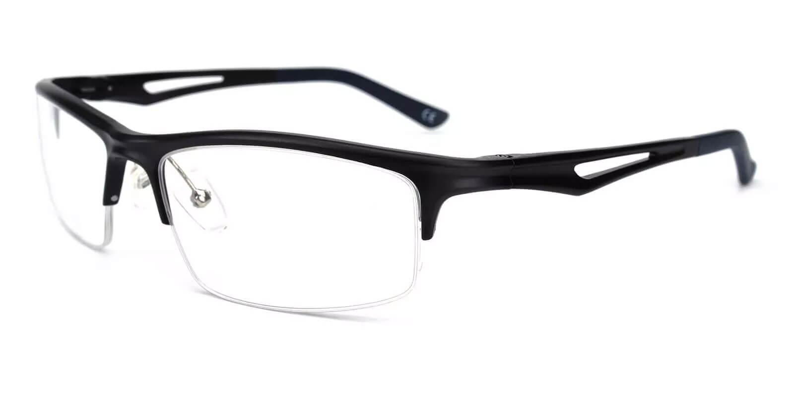 Mariner Black Metal Eyeglasses , NosePads , SpringHinges Frames from ABBE Glasses