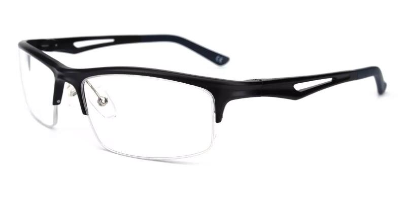 Black Mariner - Metal SpringHinges , Eyeglasses , NosePads