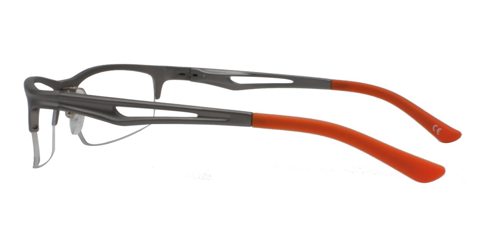 Mariner Gun Metal Eyeglasses , NosePads , SpringHinges Frames from ABBE Glasses