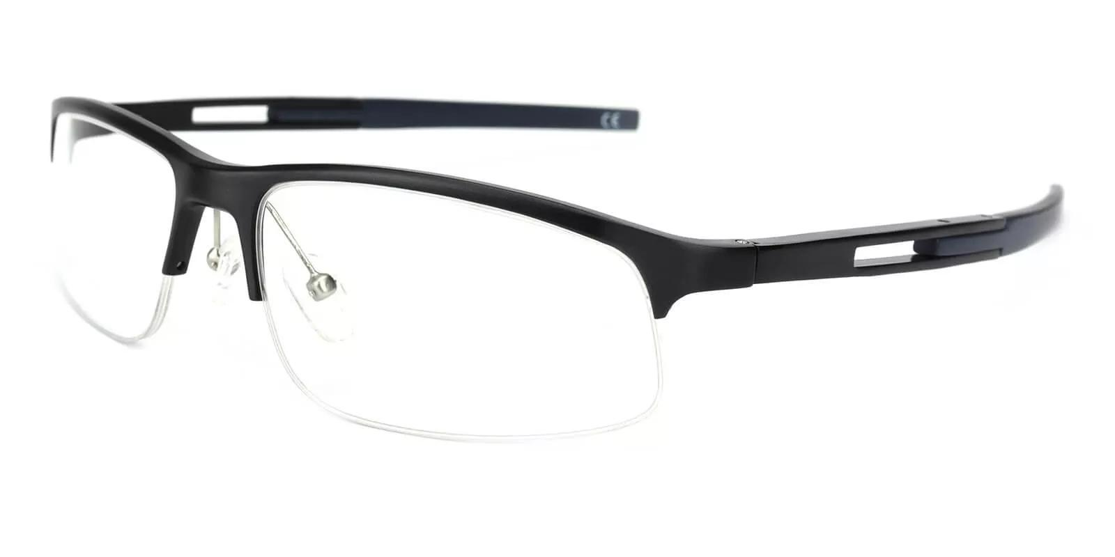 Greyson Black Metal SportsGlasses , SpringHinges , Eyeglasses , NosePads Frames from ABBE Glasses